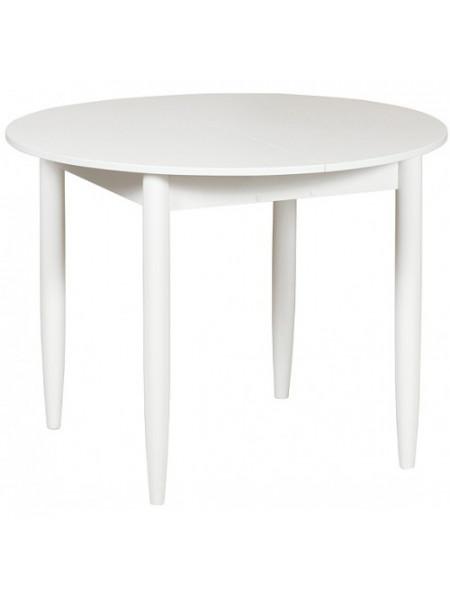 Стол раздвижной круглый 94х94 белый лофт/ноги конусные белые