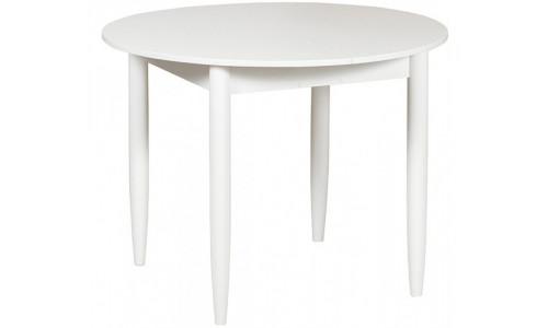 Стол раздвижной круглый 94х94 белый текстурный/ноги конусные белые