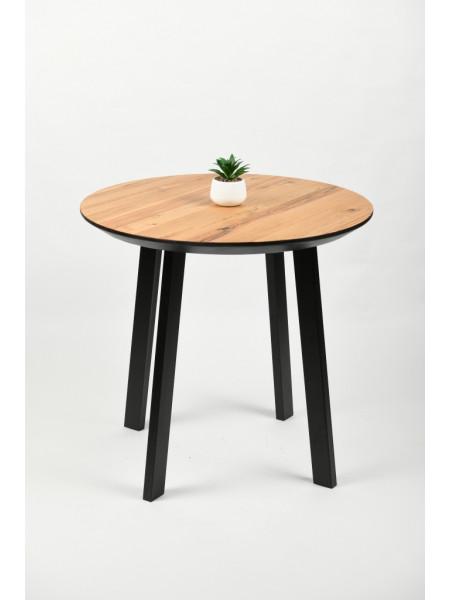 Обеденный стол Юта 80 натуральный/черный