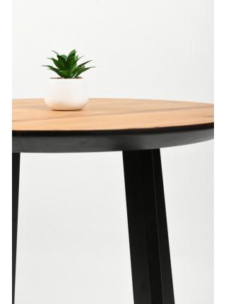 Обеденный стол Юта 100 натуральный/черный