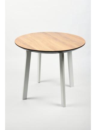 Обеденный стол Юта 90 натуральный/белый