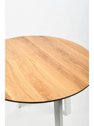 Обеденный стол Юта 80 натуральный/белый