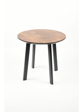 Обеденный стол Юта 80 мореный/черный