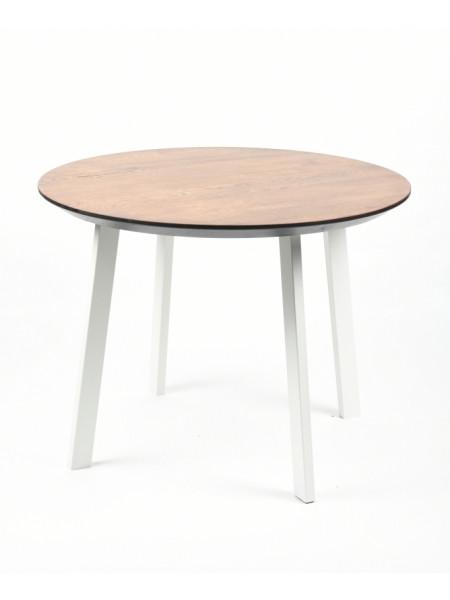 Обеденный стол Юта 80 мореный/белый