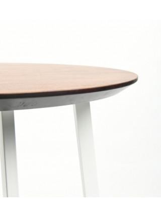 Обеденный стол Юта 90 мореный/белый