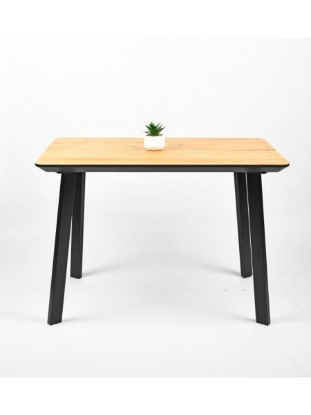 Обеденный стол Техас 110 натуральный/черный
