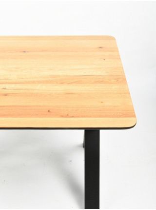 Обеденный стол Мэн 120 натуральный/черный