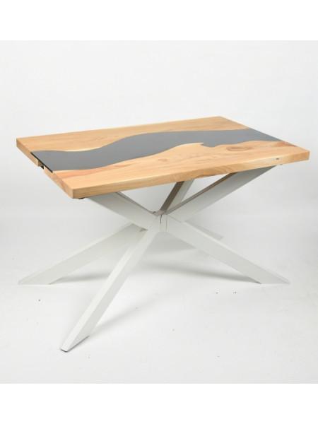 Обеденный стол Ривер натуральный/белый