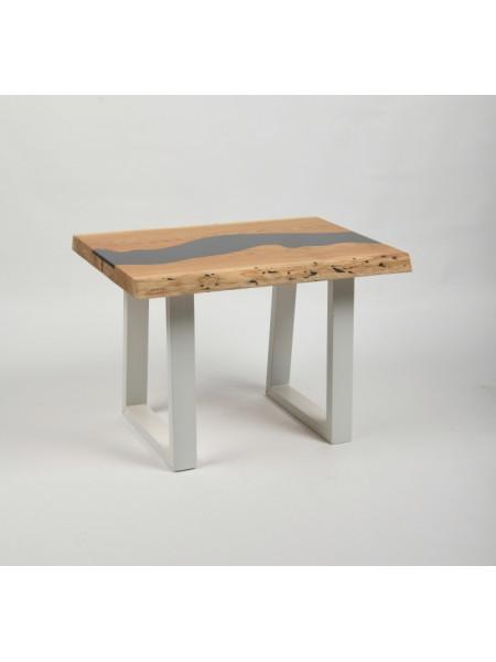 Журнальный стол Ривер натуральный/белый
