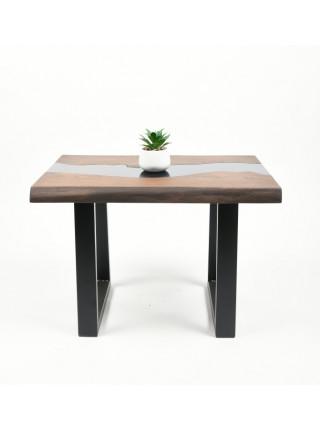 Журнальный стол Ривер мореный/черный