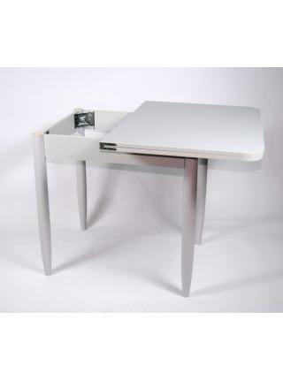 Стол ломберный 60х60 серый лофт/ноги конусные белые