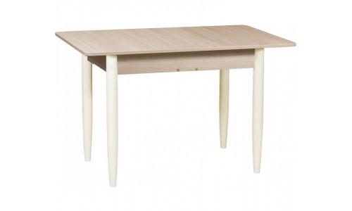 Стол раздвижной прямоугольный 110х70 дуб сонома светлый/ноги конус слоновая кость