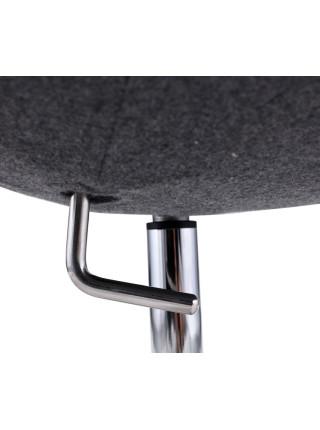Дизайнерское кресло Swan светло-серый кашемир