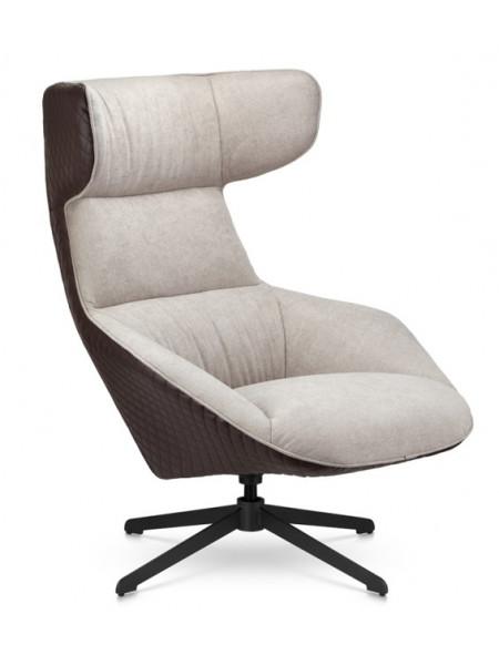 Кресло Cosmo A17 бежевый/коричневый