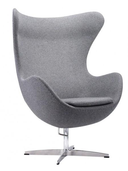 Дизайнерское кресло EGG темно-серый кашемир