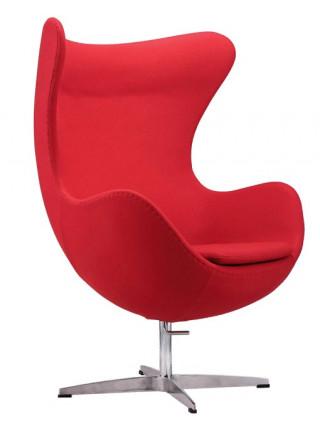 Дизайнерское кресло EGG красный кашемир