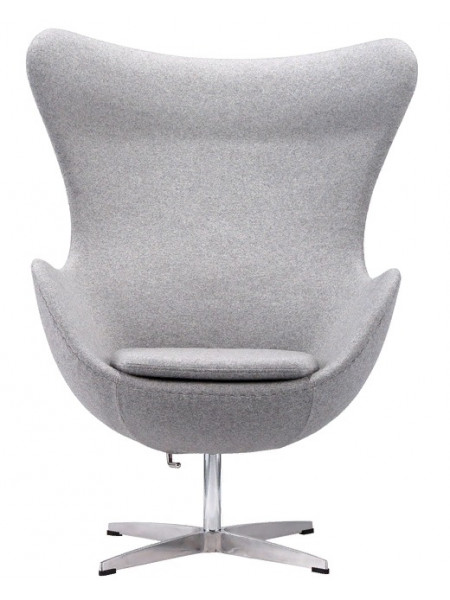 Дизайнерское кресло EGG светло-серый кашемир