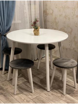 Круглый стол Вайт 4 белый