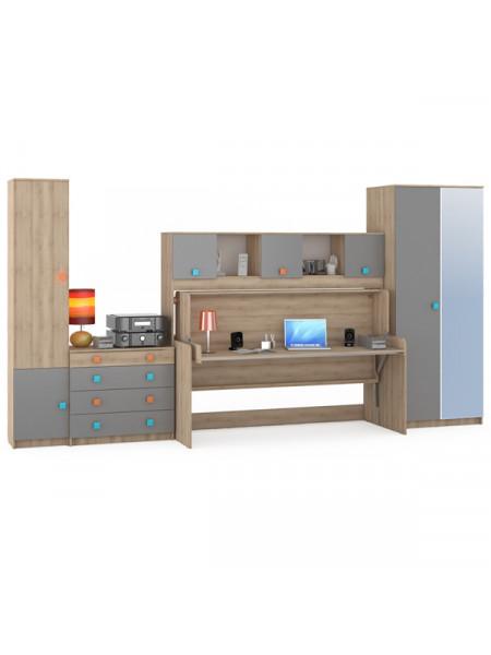Набор мебели для детской Доминика № 19 цвет бук песочный/серый шифер