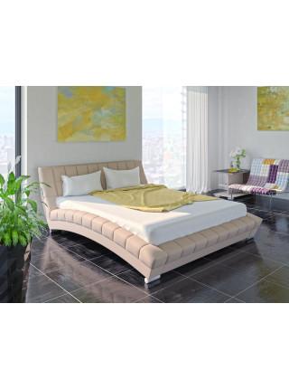 Кровать двуспальная Оливия бежевая