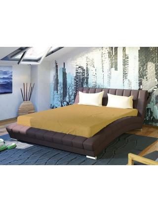 Кровать двуспальная Оливия темно-коричневая