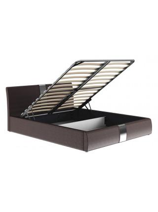 Кровать двуспальная Челси 160 темно-коричневый
