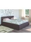 Кровать двуспальная Афина 2812 темно-коричневая с подъемным