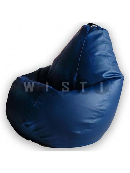 Кресло Мешок Груша Синяя ЭкоКожа (XL, Классический)