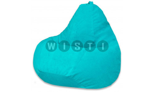 Кресло Мешок Груша Бирюзовый Микровельвет (XL, Классический)