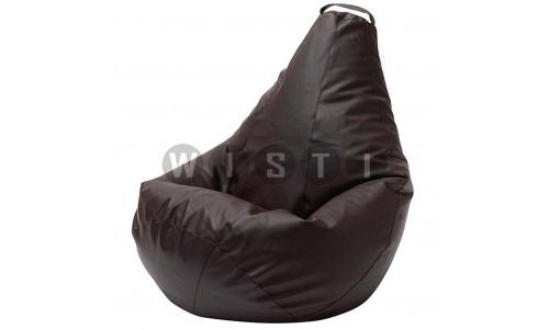 Кресло Мешок Груша Коричневая ЭкоКожа (2XL, Классический)