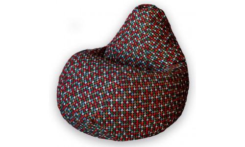 Кресло Мешок Груша Гусиная лапка (L, Классический)