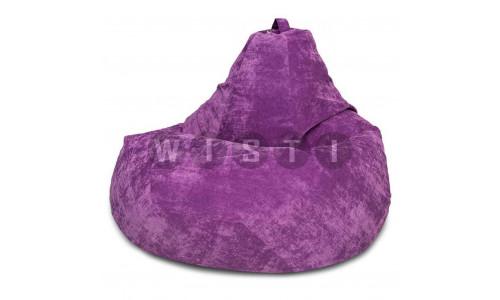 Кресло Мешок Груша Фиолетовый Микровельвет (L, Классический)