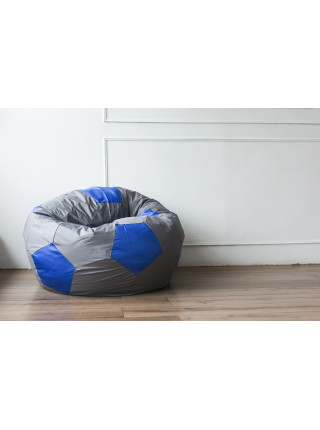 Кресло Мяч Серо-Синий Оксфорд