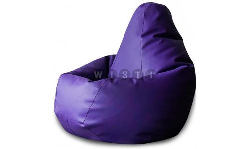 Кресло Мешок Груша Фиолетовая ЭкоКожа (L, Классический)