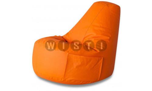 Кресло Комфорт Оранжевое ЭкоКожа