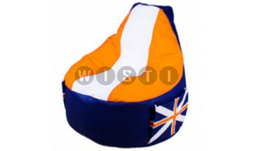 Кресло Комфорт Британия Оранжевое ЭкоКожа