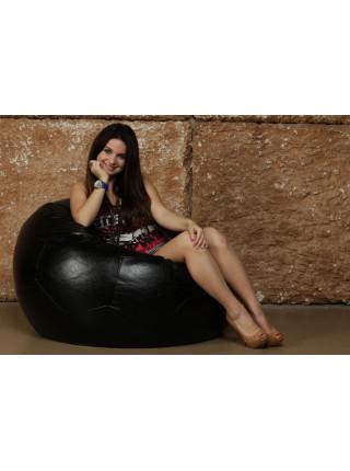 Кресло Мяч Черный ЭкоКожа