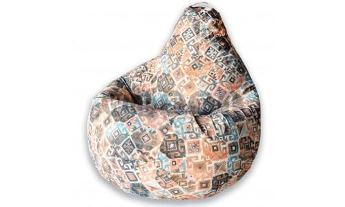 Кресло Мешок Груша Ясмин Коричневое (L, Классический)