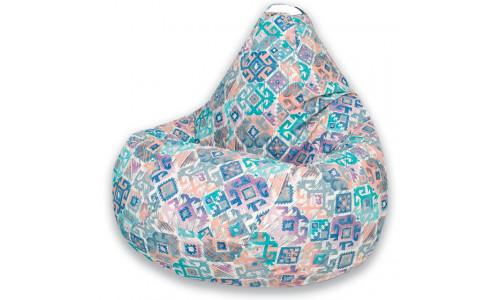 Кресло Мешок Груша Ясмин Голубое (L, Классический)