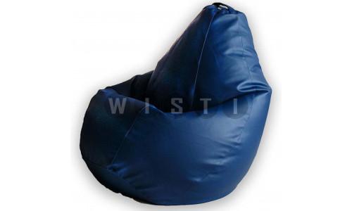 Кресло Мешок Груша Синяя ЭкоКожа (L, Классический)