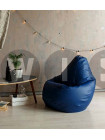 Кресло Мешок Груша Синяя ЭкоКожа (2XL, Классический)
