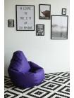 Кресло Мешок Груша Фиолетовая ЭкоКожа (XL, Классический)