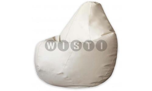 Кресло Мешок Груша Светло-Бежевая ЭкоКожа (L, Классический)
