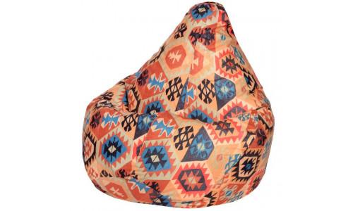 Кресло Мешок Груша Мехико Оранжевое (L, Классический)