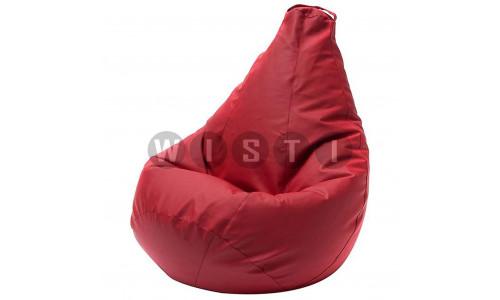 Кресло Мешок Груша Красная ЭкоКожа (L, Классический)