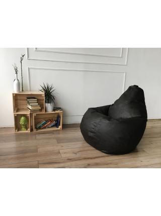 Кресло Мешок Груша Черная ЭкоКожа (XL, Классический)