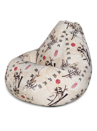 Кресло Мешок Груша Стебли Бамбука (L, Классический)