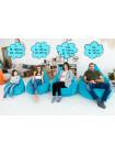 Кресло Мешок Груша Голубая ЭкоКожа (XL, Классический)