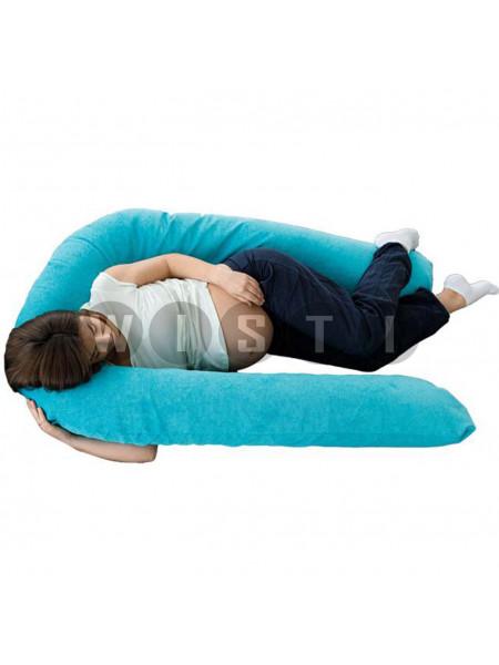 Подушка для беременных U-образная Бирюзовый мкв