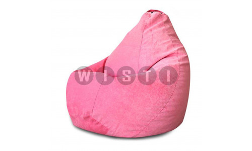 Кресло Мешок Груша Розовый Микровельвет (2XL, Классический)